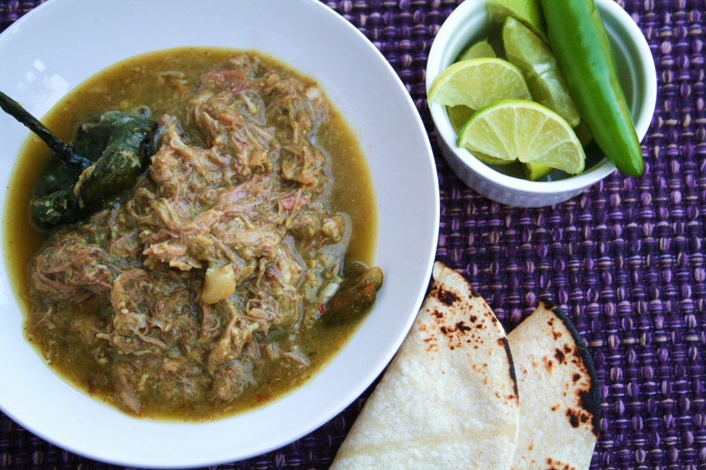 Slow Cooked Shreded Pork with Chile Verde