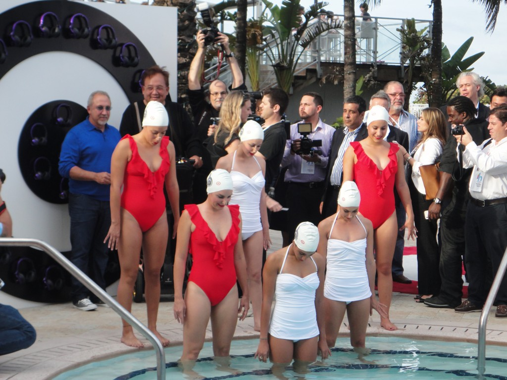 Emilio Estefan and Target Synchronized Swimmers